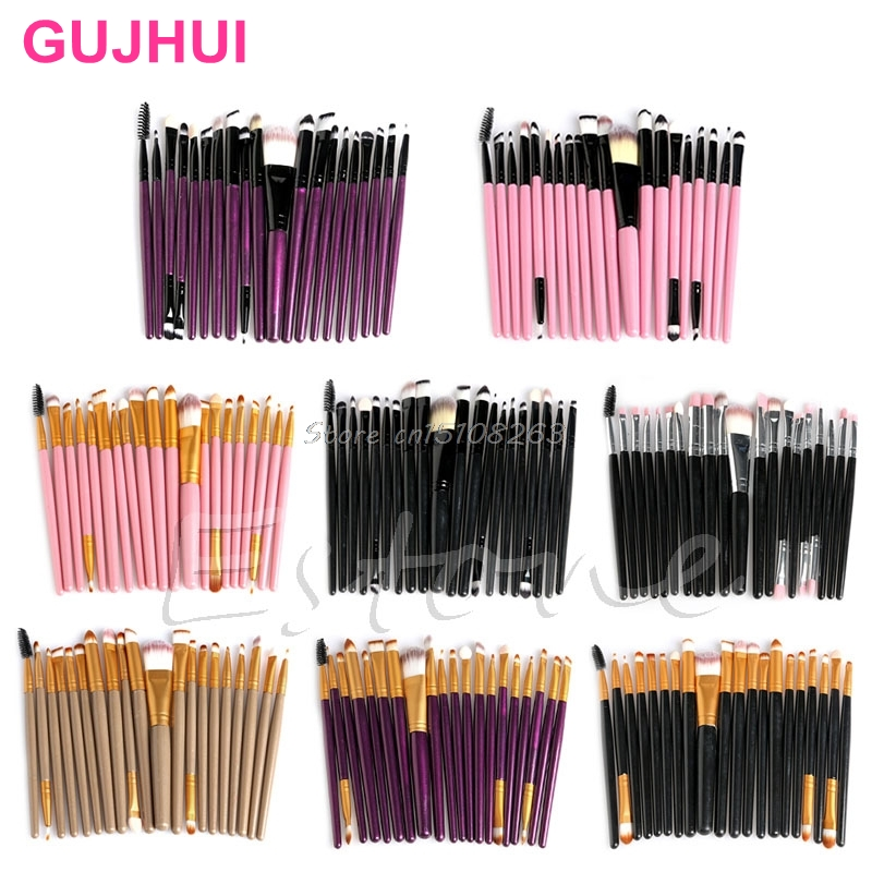 20 Pcs Kosmetik Brushes Pro Bedak Pewarna Bibir Liner Makeup Set Makeup Eyeshadow Yayasan Concealer Brushes