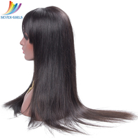 100% человеческих волос Full Lace парики предварительно сорвал натуральных волос с ребенком волосы прямые перуанские прямые волосы парики для Дл