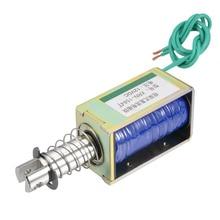 цена на Uxcell DC12V 24V Magnetic Solenoid Push Pull Type Open Frame Electromagnet 15N 55N 60N 10mm Travel Solenoid Magnetic Materials
