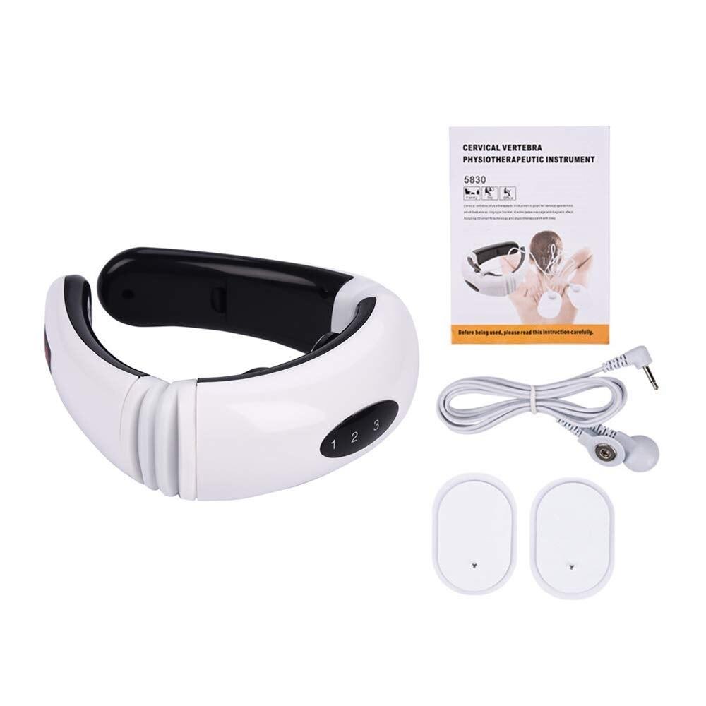 Smart EMS Electric Pulse Neck Treatment  Electro Cervical Vertebra Back Shoulder Pain relief Machine Massager Relaxation (5)