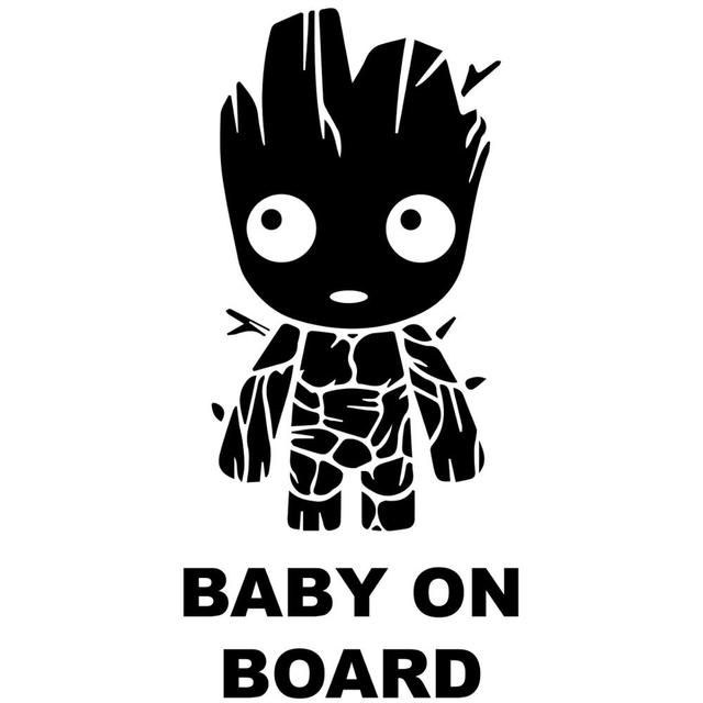 Groot Baby on Board//Guardians of The Galaxy//Vinyl Vehicle Graphics Kids Window Sticker Decal