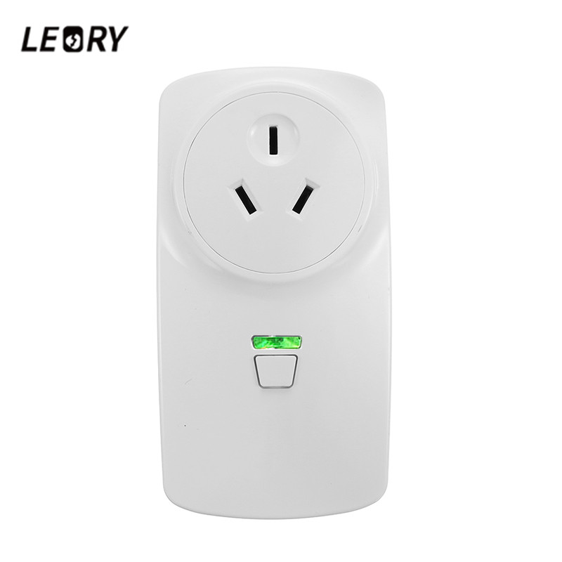 LEORY Smart Wifi Power Socket 16A AU Plug Phone Remote Control Alexa Google Voice Control Home Automation Timer Switch Wall Plug smart eu plug wifi mini alexa socket 16a app control power timer switch voice control works with alexa google home and ifttt