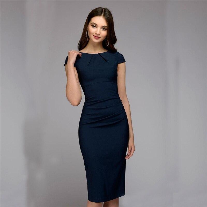 2018 Spring Summer dress Women Dot Print Slim dress Short Sleeve Office Business Dress Elegant Sheath Party Vestidos