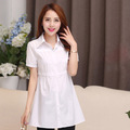 blusas femininas 2016 Women Cotton blouse Fashion Short sleeve lady blusasde renda Plus Size Blouse womens tunic shirts 4xl