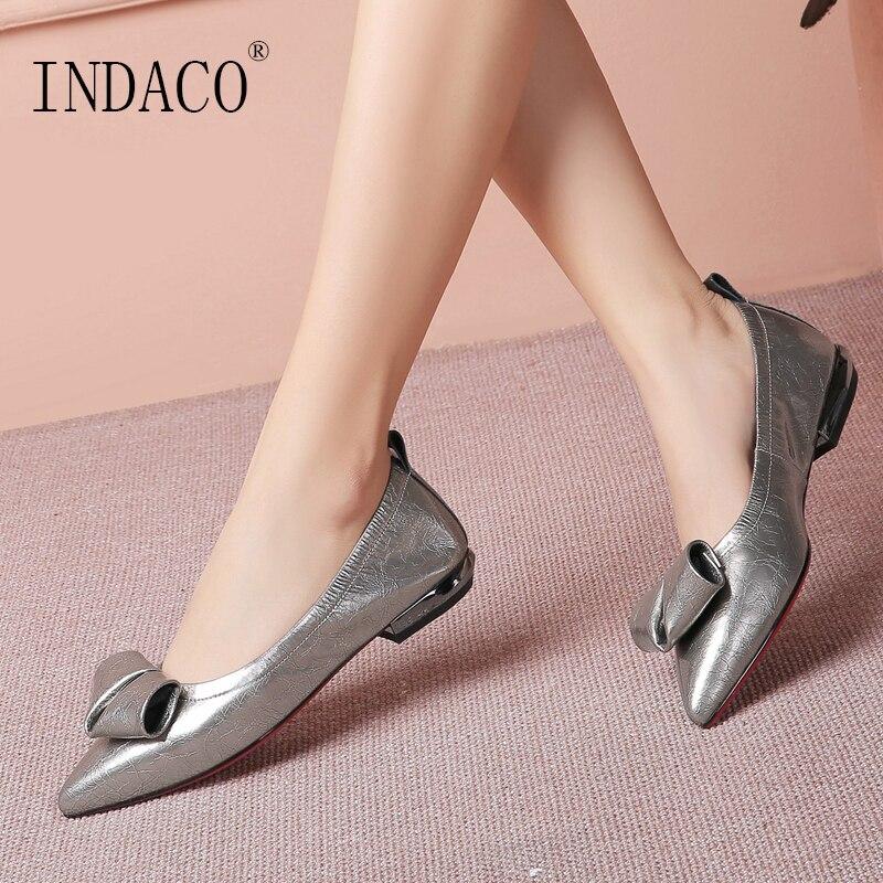 2019 Chaussures Plates Femmes Mocassins Femmes Noir En Cuir Femmes Chaussures Glissement sur des Chaussures pour les Femmes