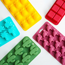 Flamingo Silicone Ice Moulds Diy Ice Cube Mold Silicone Ice Mold Maker Tray Fruit Chocolate Mold Diy Candy Bar Kitchen Tool cute bow tie silicone ice mold ice maker mold deep pink
