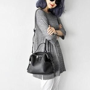 Image 5 - Crossbody torby dla kobiet czarne skórzane 2019 projektant wysokiej jakości PU Hobo torebki dla dziewczyna różowy kolor miękkie torba na ramię torebka