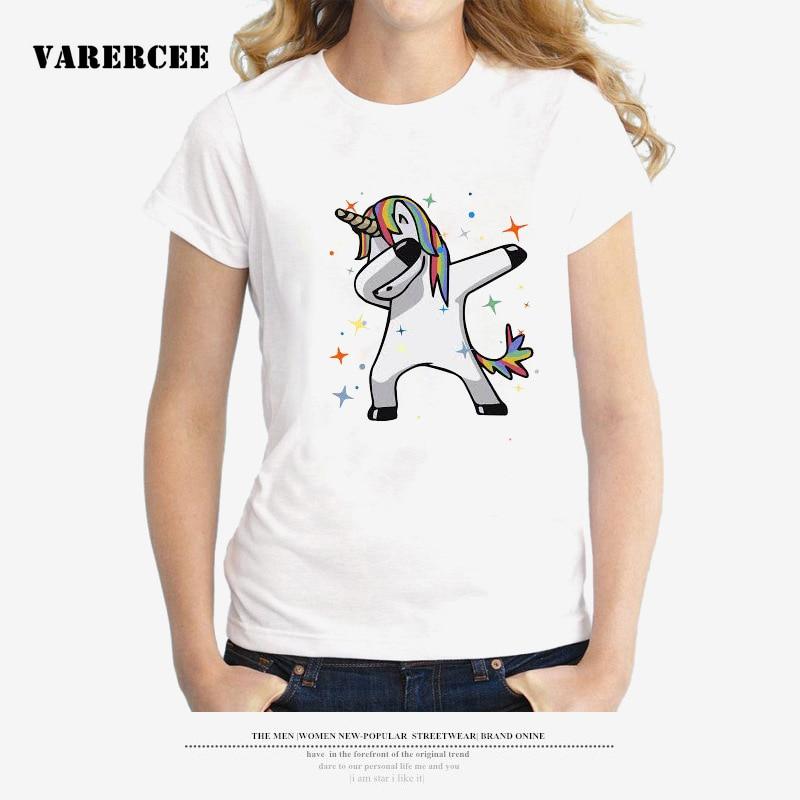 VARERCEE Manica Corta T-Shirt donna 2018 Estate signore Casuali top tees cotone Simpatico Cartone Animato Stampato tshirt Femminile Più Il Formato S-3XL