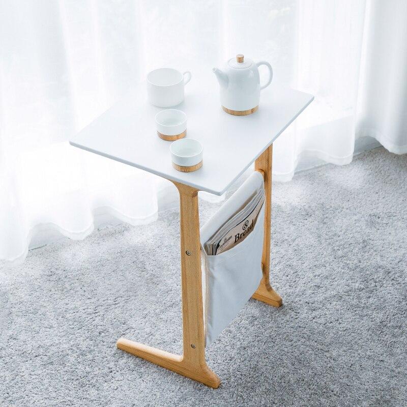 Table basse blanche de bout de canapé de bambou de ZEN'S pour la Table de nuit de salon pour des meubles d'accent de chambre à coucher