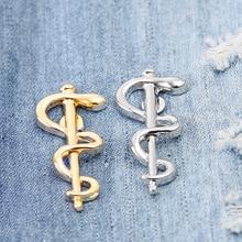 World Health Organization WHO Logo Brooch Fashion  Snake Caduceus Pharmacy Wellness Pins Doctor Nurse Medical Symbol Badge