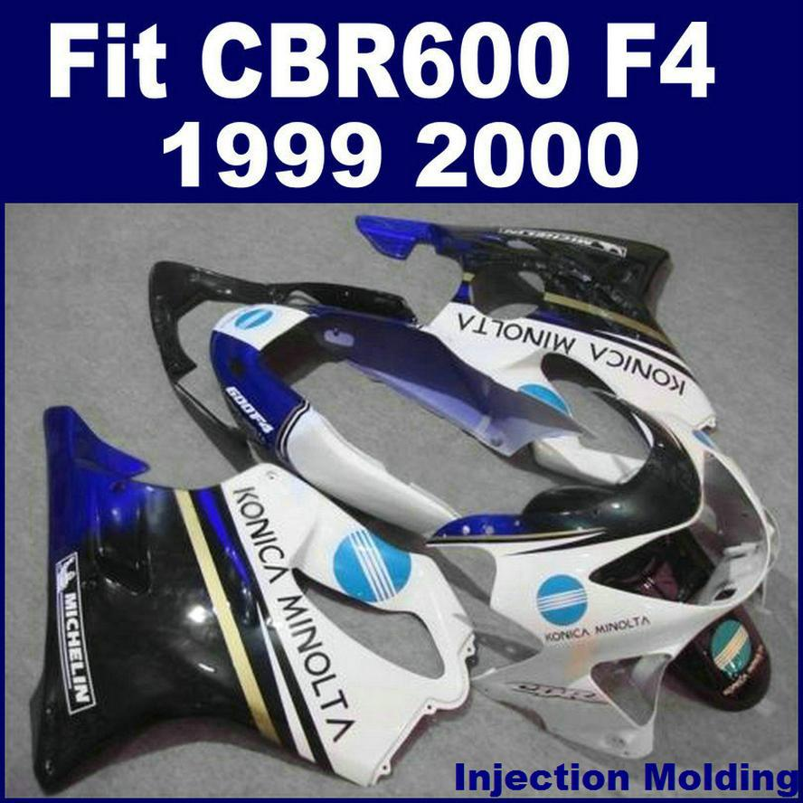 Injection Molding High Grade For HONDA Body Repair Parts Fairings CBR 600 F4 1999 2000 White 99 00 Cbr600 Custom N8M