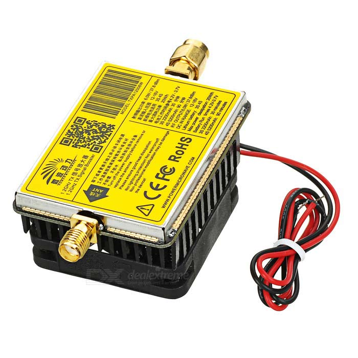 1.2G 6.5W Image Transmission FPV Signal Amplifier Aerial Photography Wireless Wi-Fi Power Amplifier For FPV RC Model Quadcopter