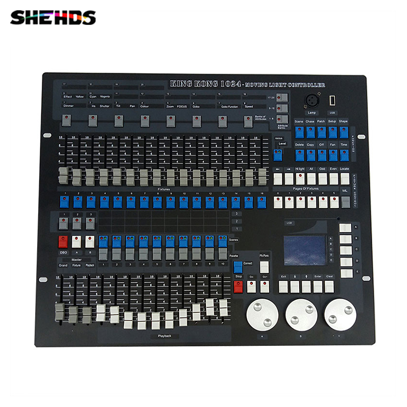 1024 Channels DMX512 DMX Controller Console DJ Disco Equipment DMX Lighting Consoles Professional Stage Lights Control Equipment dmx512 digital display 24ch dmx address controller dc5v 24v each ch max 3a 8 groups rgb controller