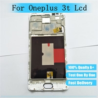 Test 100 LCD Digitizer For Oneplus 3t A3010 LCD Display Touch Screen With Frame Assembly One