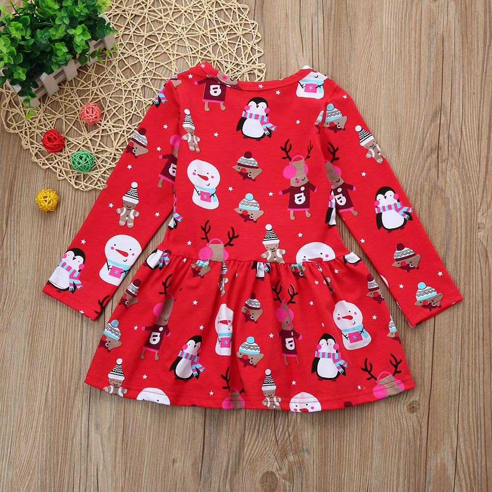 Toddler Kid Baby Girl Christmas Clothes Long Sleeve Pageant Party Princess Dres