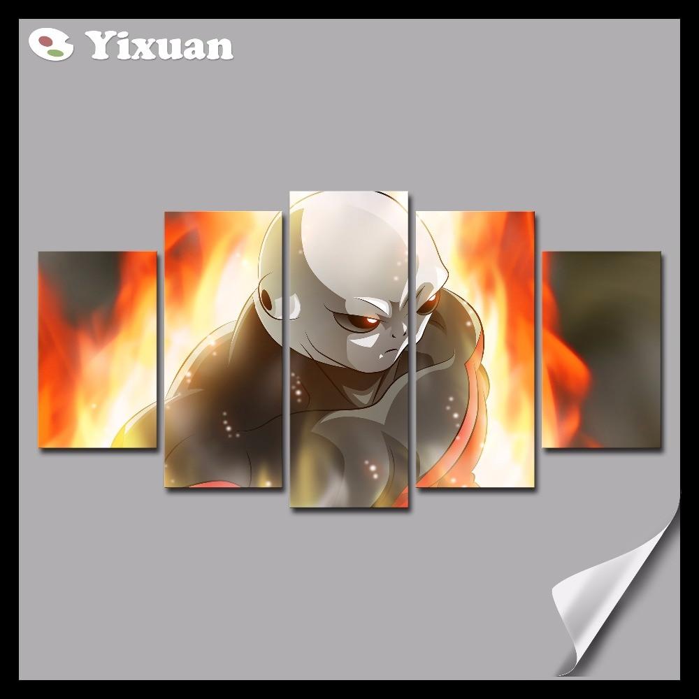 frame  panels canvas painting dragon ball jiren  grey