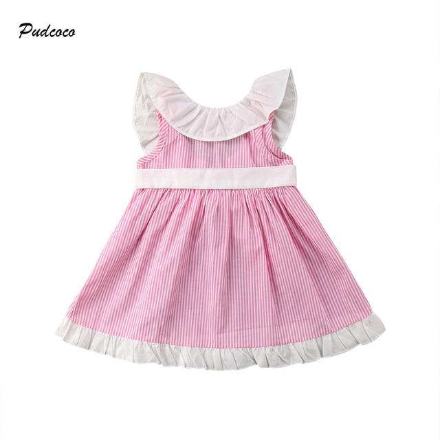 54b160b1b7e3 Lovely Toddler Kids Baby Girl Sleeveless Cape Collar Backlessa ...
