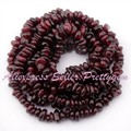 "Free Shipping 3x5-5x7mm Freeform Red Garnet Natural Stones For DIY Necklace Bracelet Jewelry Making Spacer Loose Beads 34"" / Lot"