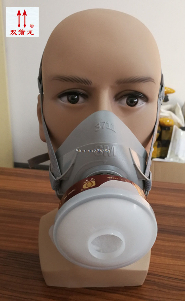 3711 type respirator gas mask Multifunction chemical gas mask paint pesticides smoke industrial safety mask 6200 n95 double gas mask protection filter chemical respirator mask