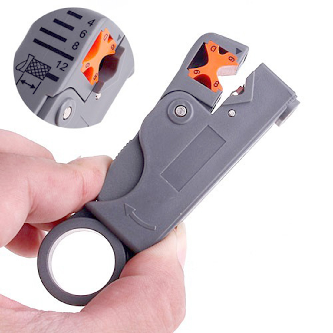 Etmakit Brand New Rotary Coaxial Cable Wire Stripping Stripper Cutter Stripper Network Tools