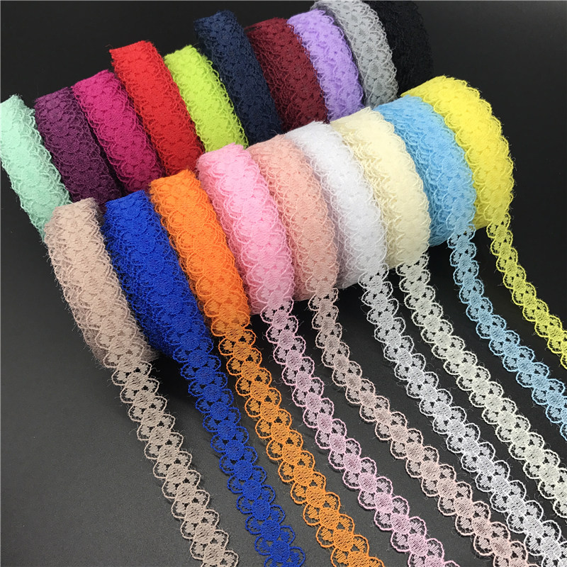 "10yards/lot 5/8"" (15mm) Lace Ribbon Bilateral Handicrafts Embroidered Net Lace Trim Fabric Ribbon DIY Sewing Skirt Accessories(China)"