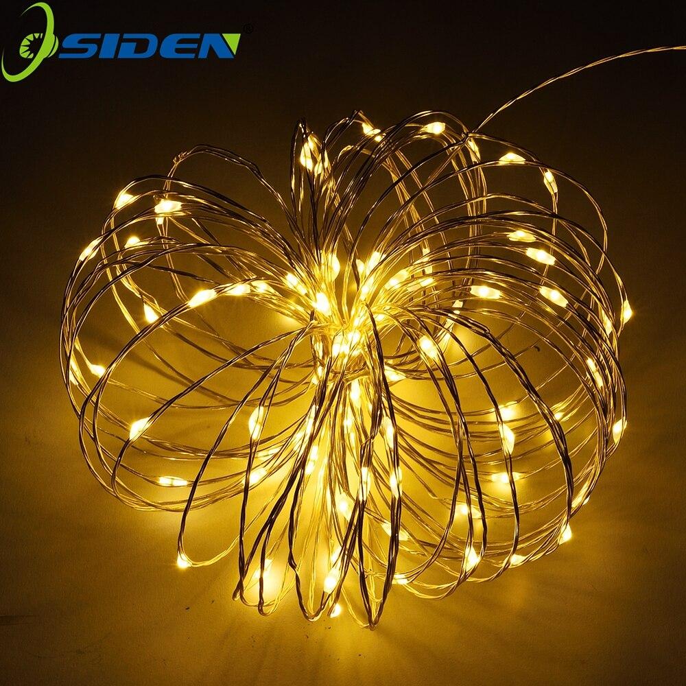 Vanjska gama svjetla 100 LED dioda Ukrasna svjetla 33ft bakrena žica - Rasvjeta za odmor - Foto 6