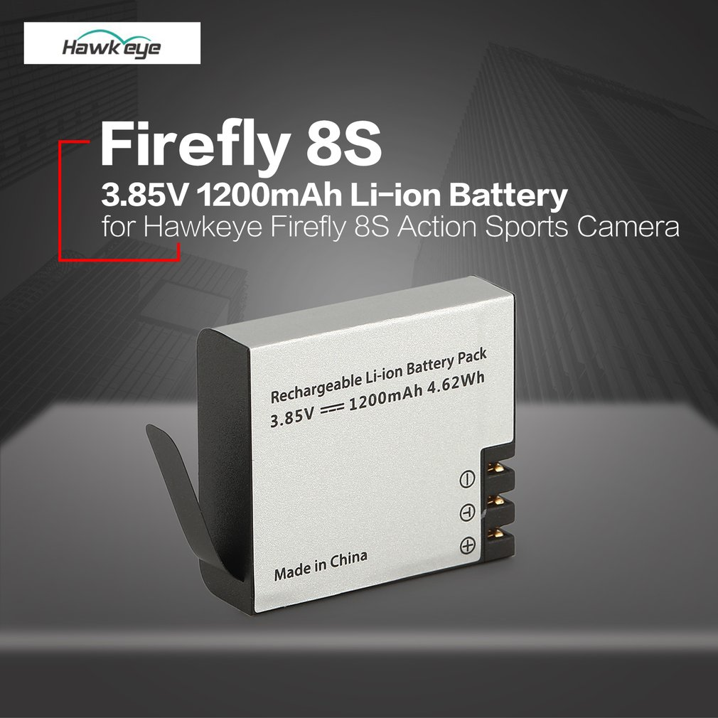 Hawkeye Firefly 8S S009R 3.85V 1200mAh Li-ion Replacement Sports Action WIFI Camera Cam Spare Battery Parts Accessory