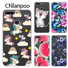For Huawei Y6 Prime 2018 Case Cover Soft Silicone TPU Transparent Printing Phone Back Protective Cases For Huawei Y6 Prime 2018