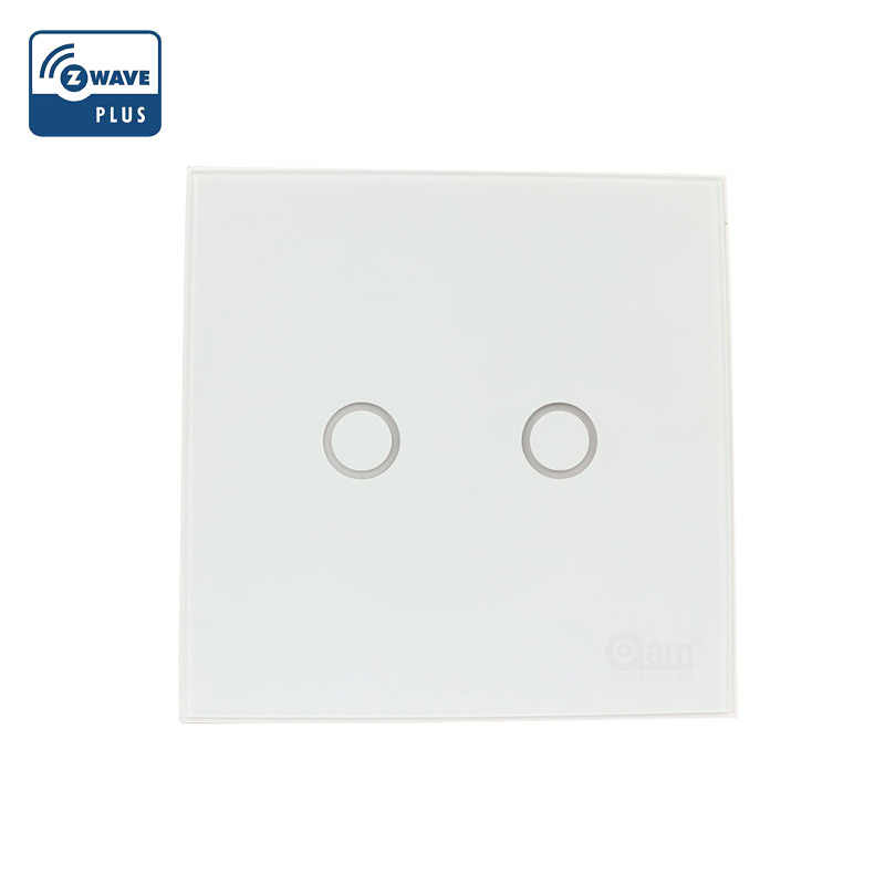 NEO Coolcam NAS-SC01ZE Smart Home Z-Wave Plus 2CH EU Light Switch Compatible with Z-wave 300 series and 500 series