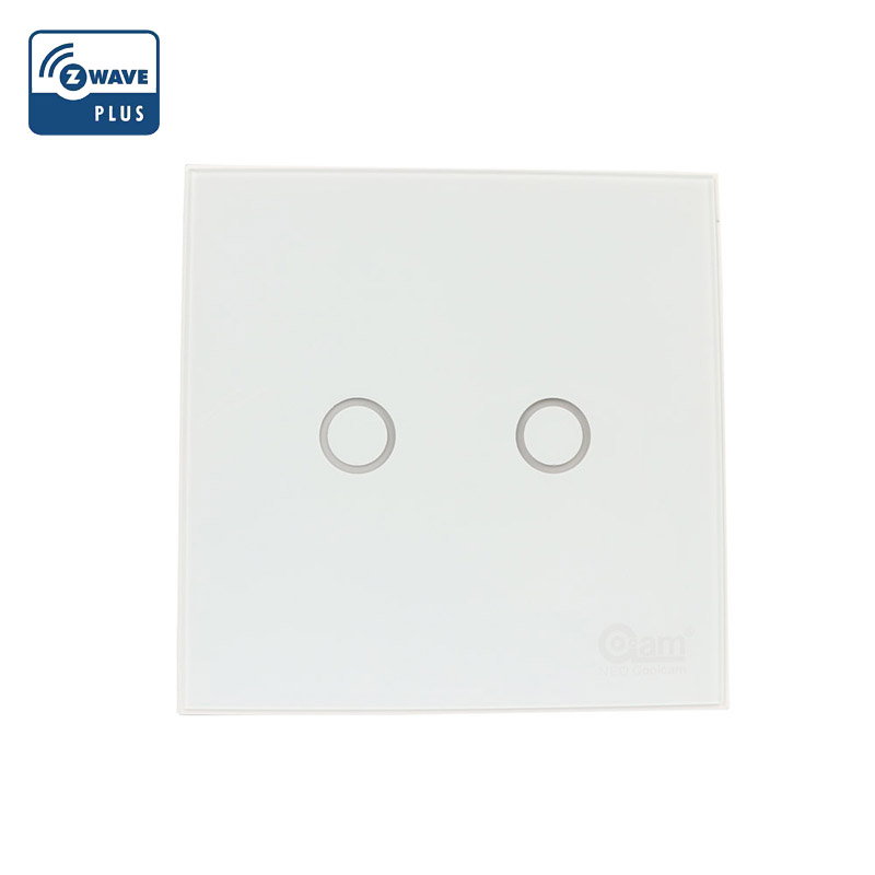 NEO Coolcam Z-Wave Plus 2CH EU Smart Light Switch In Wall Touch Lighting Switch Compatiable With Fibaro Smartthings