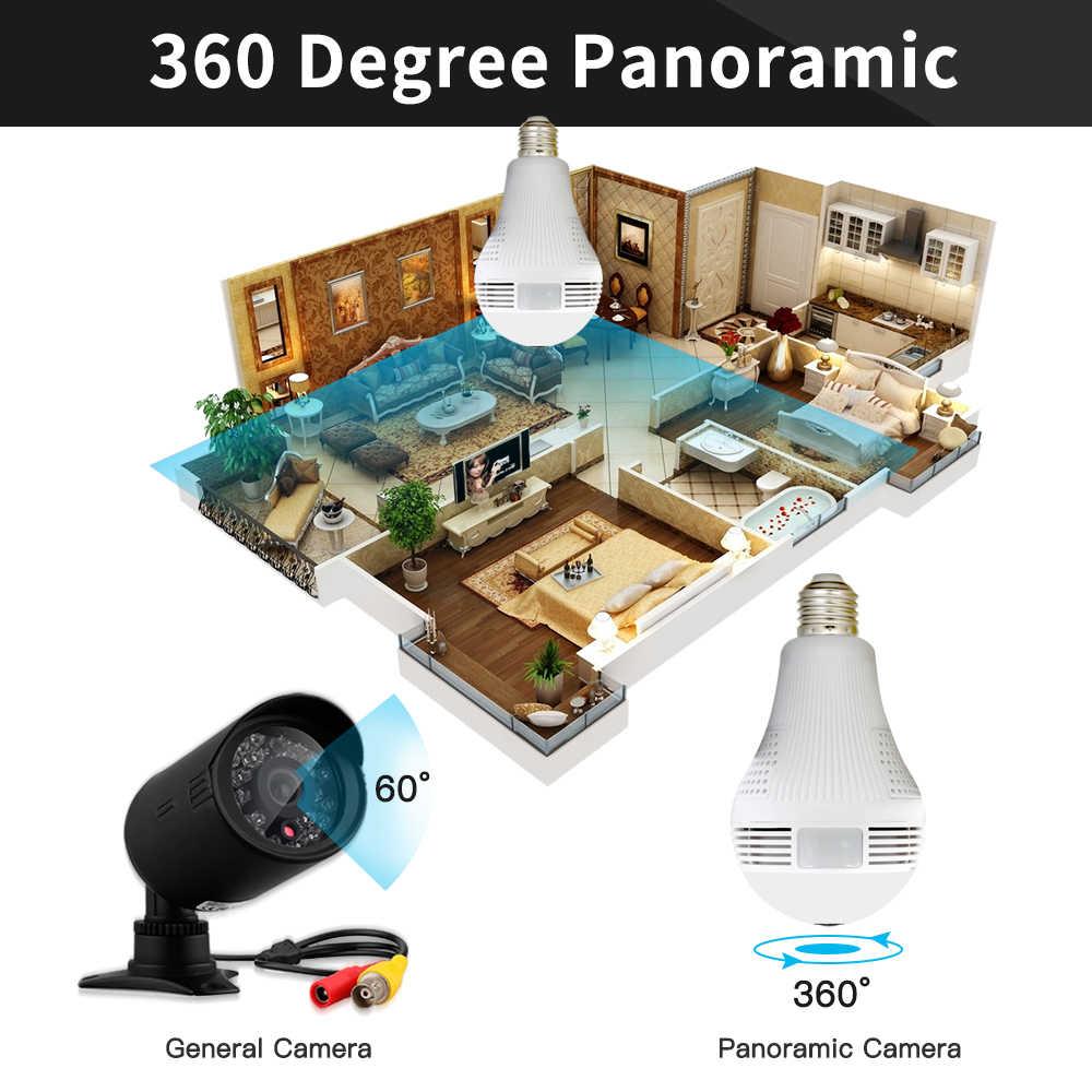 960P 360 градусов умный дом Беспроводная IP камера лампа рыбий глаз CCTV 3D VR камера 1.3MP Домашняя безопасность WiFi камера панорамная