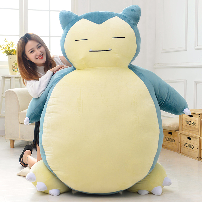 stuffed plush toy movie cartoon figure huge 150cm snorlax doll soft sleeping pillow surprised birthday gift b0988 stuffed animal 120 cm cute love rabbit plush toy pink or purple floral love rabbit soft doll gift w2226