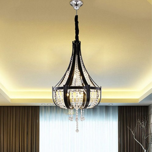 American Luxury Leather Droplight Crystal Chandelier Moder LED Light Fixtures For Living Dining Room Hanging Lamp Home Lighting modern crystal chandelier led hanging lighting european style glass chandeliers light for living dining room restaurant decor