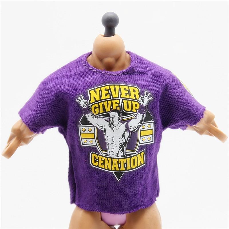 Wrestling gladiators t shirts for figures Wrestler action Figures PVC model Toys John Cena Purple