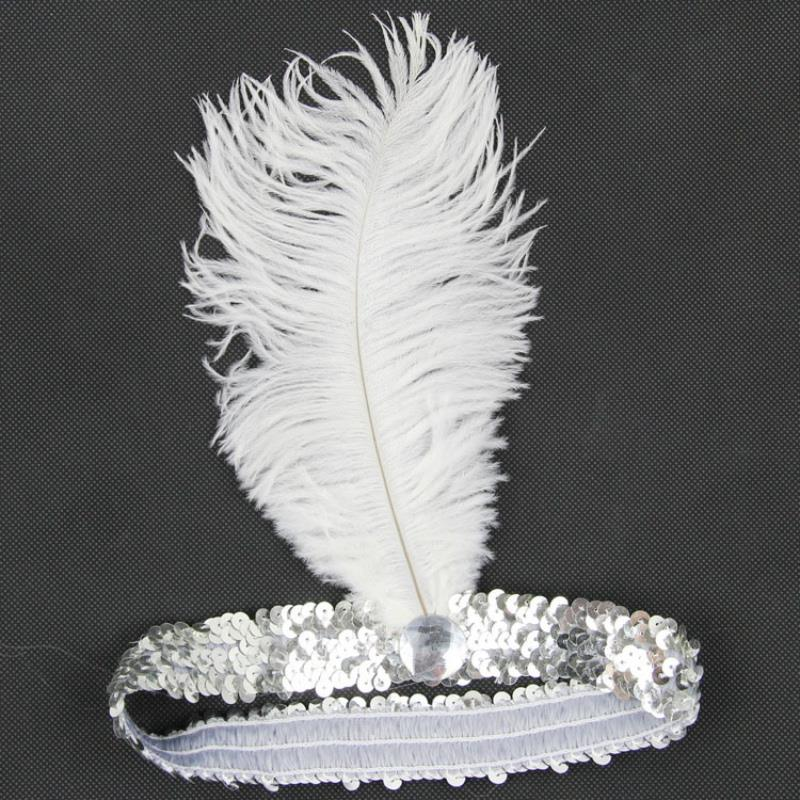 Hot Selling 10 Colors Feather Headband Flapper Sequin Headpiece Costume Head Band Party кольцо коюз топаз кольцо т143015420