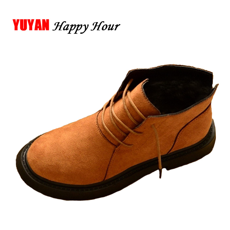 New 2019 Autumn Winter Shoes Women Ankle Boots Warm Plush Shoes For Cold Winter Fashion Womens Boots Ladies Brand Fashion ZH2368