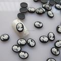 RC154 30 шт. красивые черные камеи в форме ногтей полимерные украшения outlook