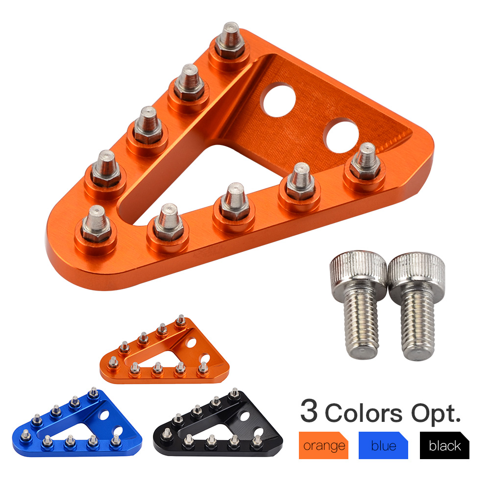 Large Wide CNC Rear Brake Pedal Step Plate Tip For KTM 125 150 200 250 300 350 450 500 EXC SX SXF XC XCW EXCF XCF 2017 2018 2019