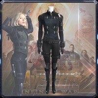 Hot Avengers Infinity War Black Widow Cosplay Costume Natasha Romanoff Costume Dress For Halloween Party Full Set custom made