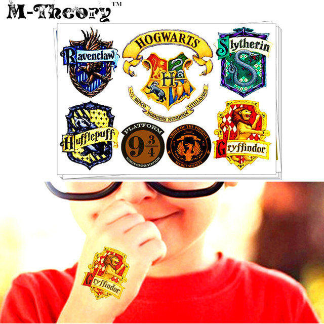 M-theory Harry School Hogwartss Signet Temporary Makeup 3d Fake Tattoos Henna Tatouage Body Arts Tatuagem Flash Tatoos Sticker