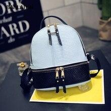 Хороший Фирменная Новинка женские мини-рюкзак искусственная кожа крокодила рюкзаки карман на молнии высокое качество женские сумочки Mochilas