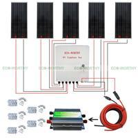 6 шт. 100 Вт 12 В Панели солнечные 6 строка PV комбайнер 45a контроллер для караван солнечных Генераторы