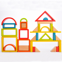 Wooden Creative Building Toy Block Kids Cube Boxes Early Learning Baby Colorful Blocks Imagination Square Box Children Toys