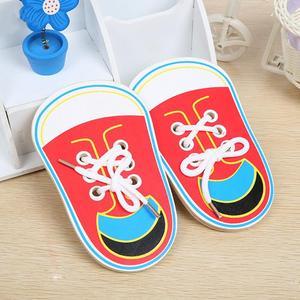 Children Wooden Lacing Shoes T