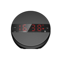 EStgoSZ Portable Wireless Radio Stereo Music Soundbox with Remote Control Bluetooth 4.2 Time Display Alarm Clock FM TF Speakers