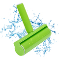 Зеленый многоразовый моющийся ролик пылесборник Приклеивание ворсинок ролик для одежды уход за волосами домашних животных бытовые инстру...