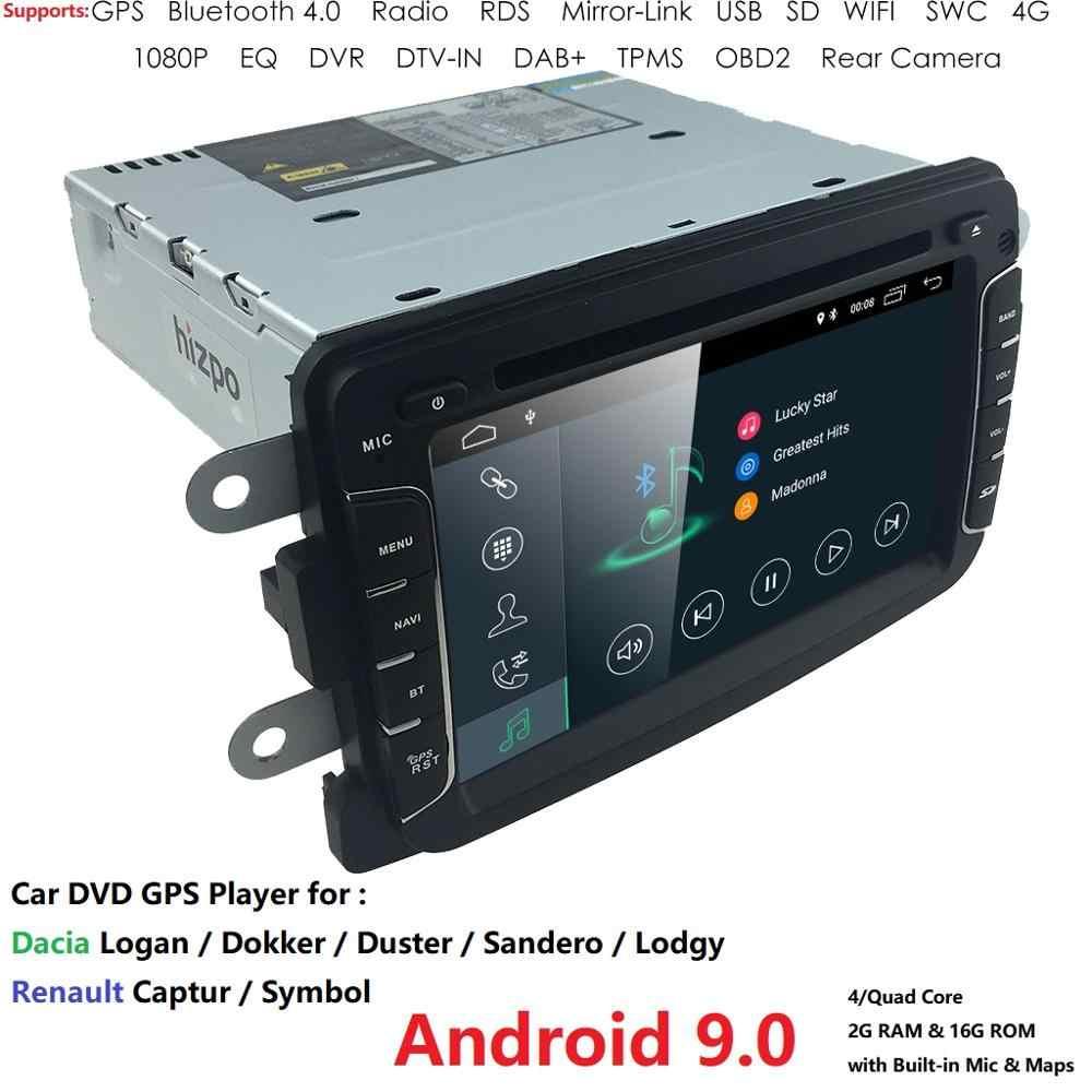 Ossuret Android 9,0 1DIN автомобильный DVD для RENAULT DUSTER LOGAN LADA XRAY SYMBOL DACIA Captur DOKKER DVD GPS для автомобиля мультимедийный RDS DSP