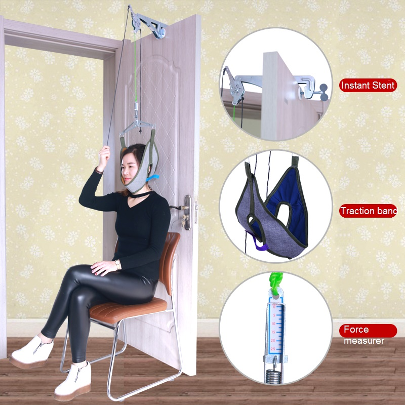 Door hanging cervical traction frame hanging neck traction home cervical spondylosis treatment tensioner neck pain cervical repositioning sense in subjects with non specific neck pain