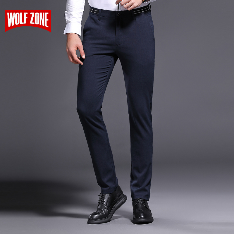 2018 Hot Fashion Business Casual Pants Men Spring Summer High Quality Cotton Soft Classic Office Trousers Man Mid Full Length