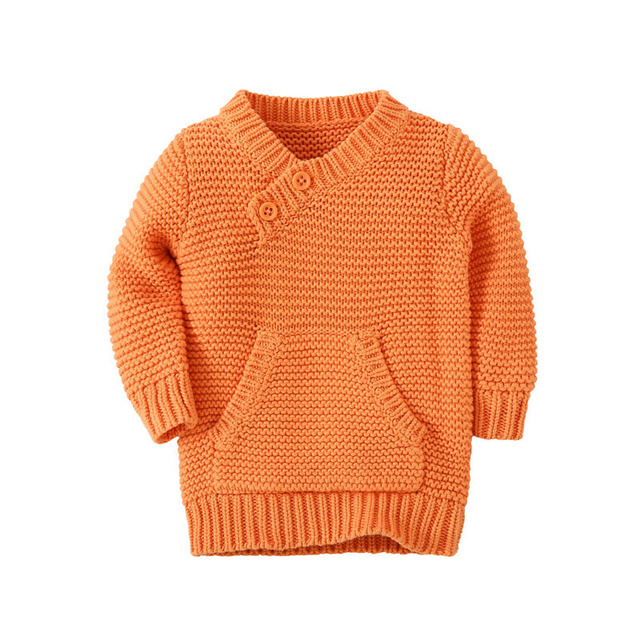 Hot Sale Winter Baby Girls Boys Sweater Kids Cotton Clothes Children Sweater Warm for Girls Boys Knitwear 3 Color WJ0386